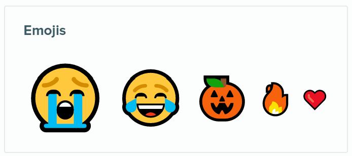3 Emojis panel