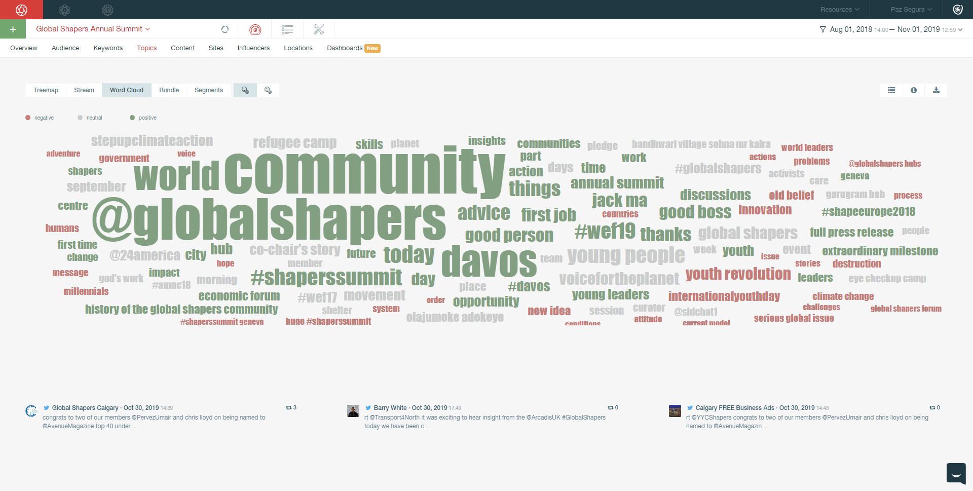 Pulsar TRAC- Global Shappers - Conversation aug 2018 sept 2019 - Topics - Word Cloud