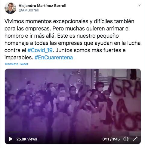 Tweet Alejandro Martinez Borrell