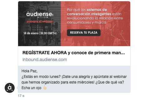 Captación de leads: consigue los datos de contacto de tus seguidores enviándoles un DM ofreciendo algo relevante y de interés para ellos