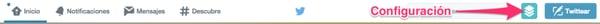 Acceder a Configuración de Twitter