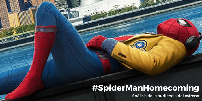 La red de #SpiderManHomecoming: analizamos su audiencia