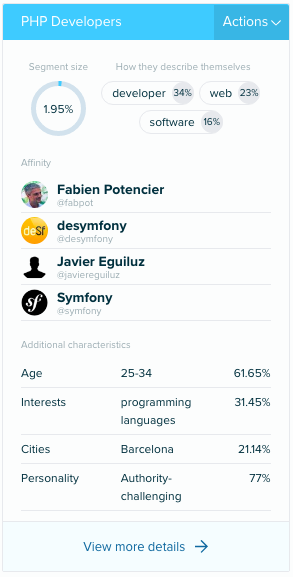 Audiense Insights - Developers - Clusters 3