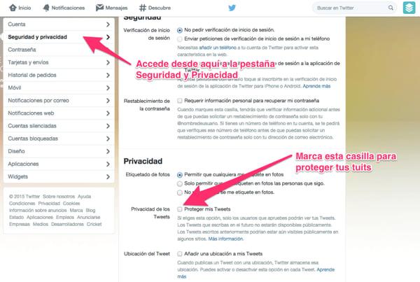 Cómo proteger tus tuits