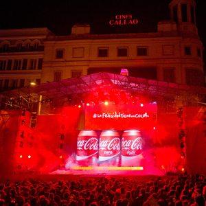 #Lafelicidadtieneuncolor evento Coca Cola