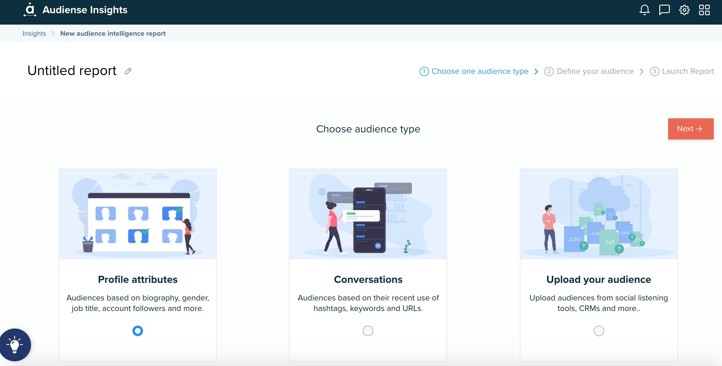 Audiense blog - Choose audience type