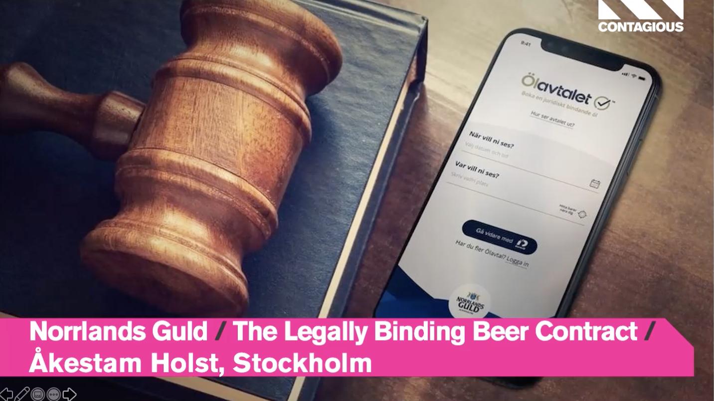 Audiense blog - Norrlands Guld   The Legally Binding Beer Contract   Åkestam Holst